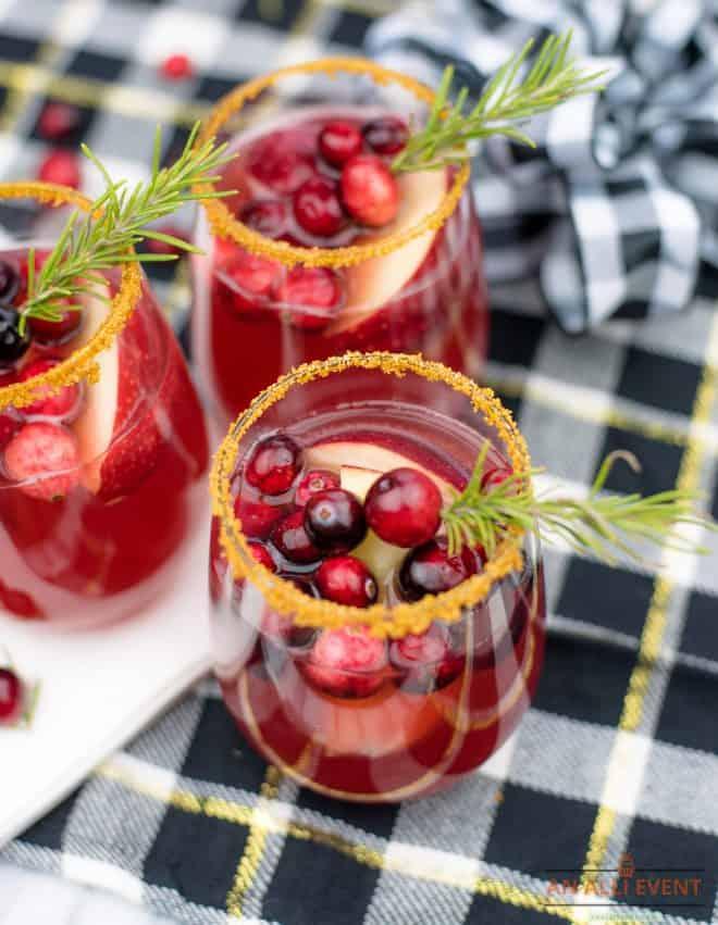 cranberry mocktails