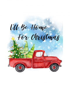 Free-Red-Christmas-Truck-Printables