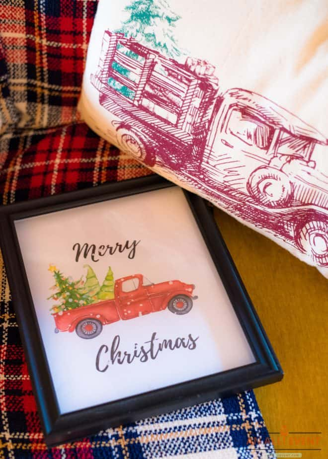 Merry-Christmas-Red-Truck-Printable