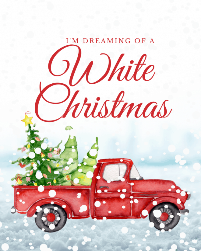 Free-Red-Truck-Printable-White-Christmas