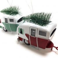 Kurt Adler Red and Green Campers