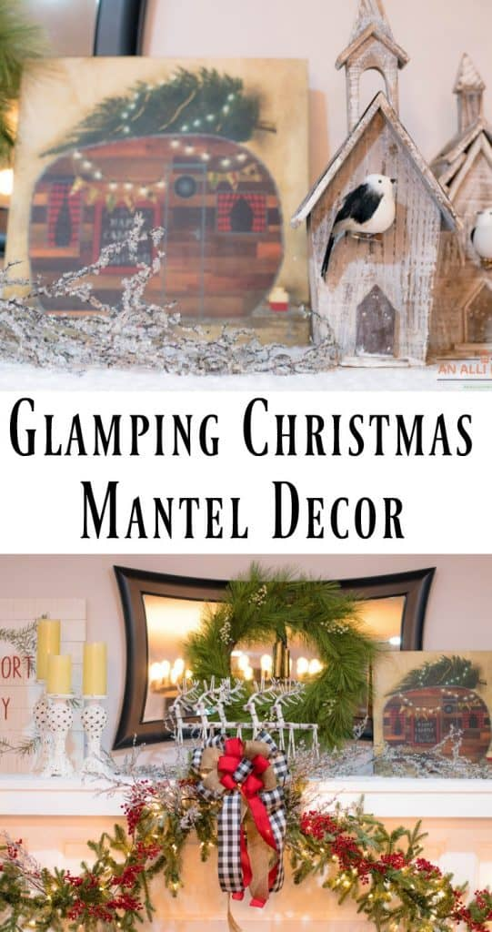 Christmas-Theme-Mantel-Decor-Featuring-Glamping
