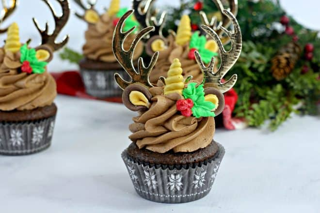 Reindeer-Unicorn-Chocolate-Cupcakes