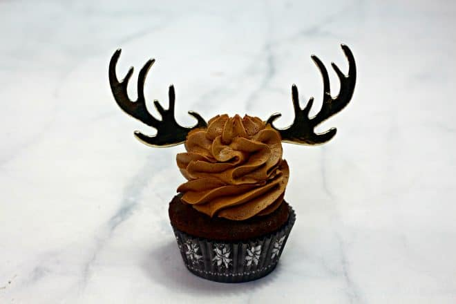 Place Antlers on Cupcakes
