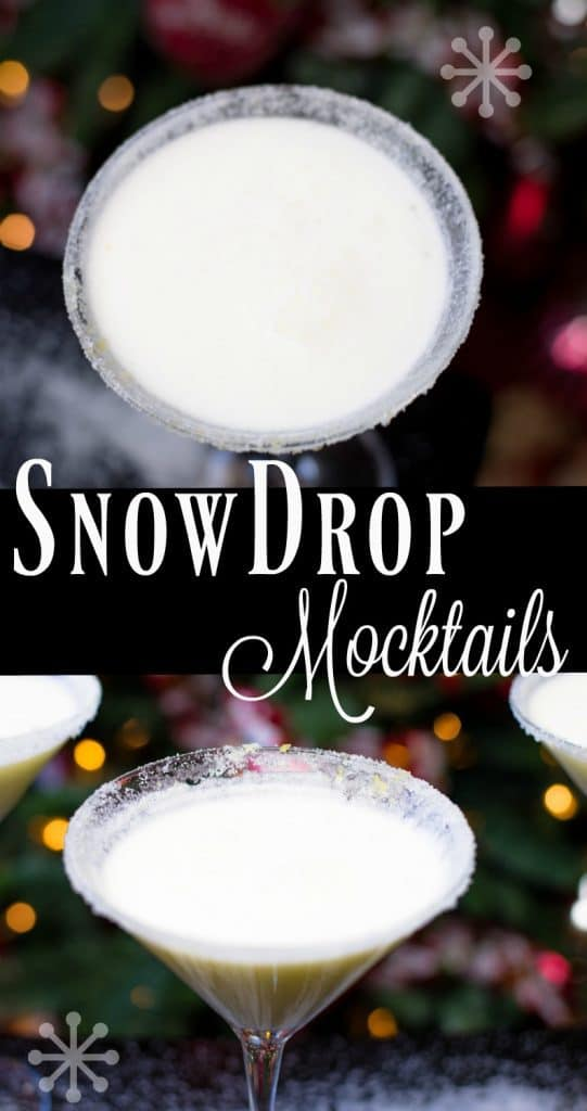 Snowdrop Mocktails in Martini Glasses