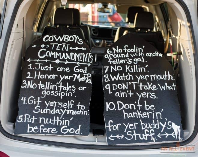Cowboy Commandments Trunk or Treat