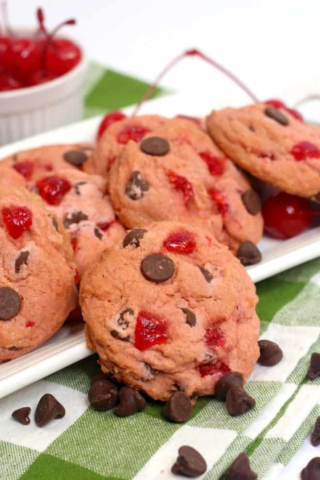Platter of Cherry Cookies