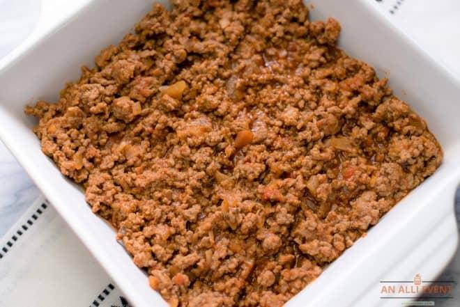 Ground Beef Layer for Hamburger Casserole