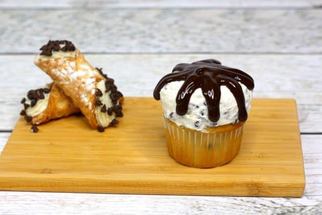 Chocolate Ganache over cupcakes