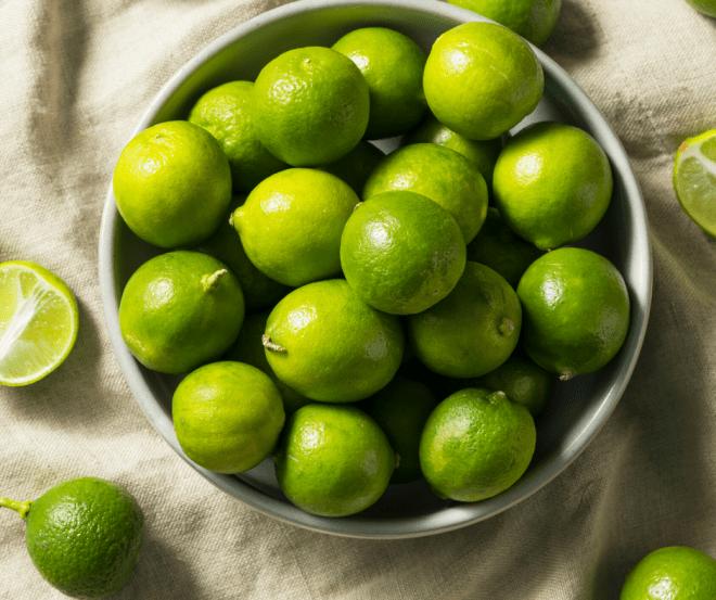 Key Limes in a white bowl