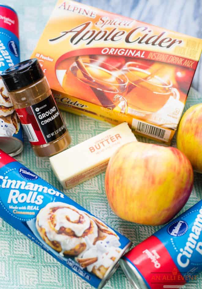Ingredients for Spiced Apple Monkey Bread