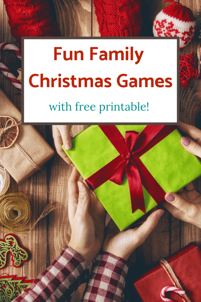 Fun Family Christmas Games - hands exchanging Christmas gifts