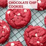 Red Velvet Cookies - Cake Mix Cookies on wire rack