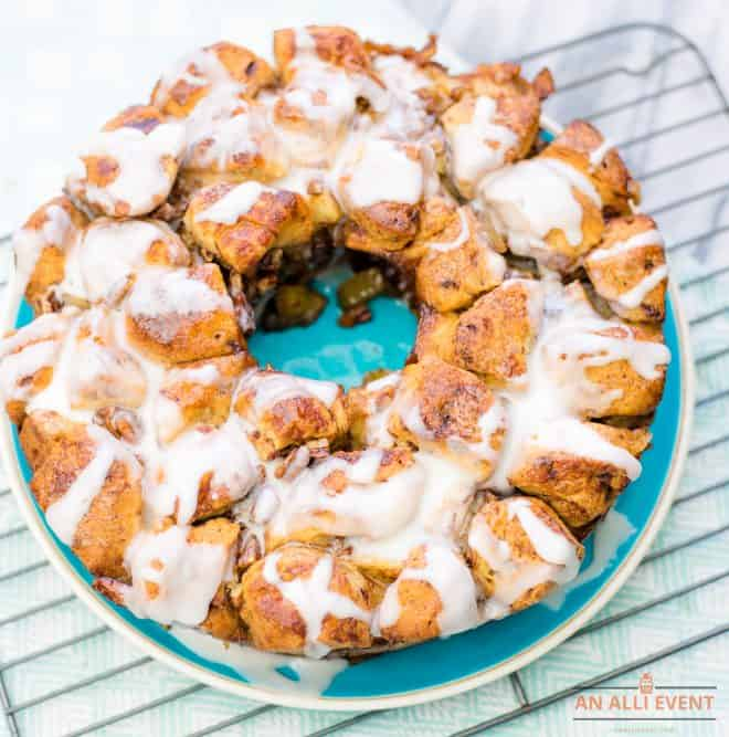 Spiced Apple Monkey Bread on cooling rack