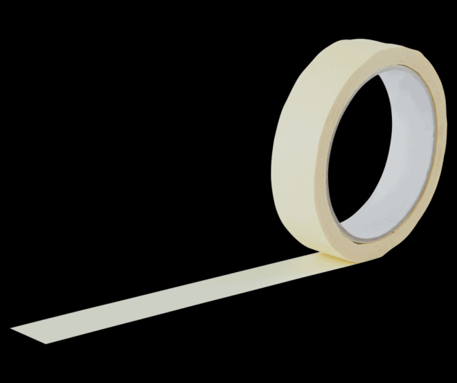 Beige Masking Tape with Black Background