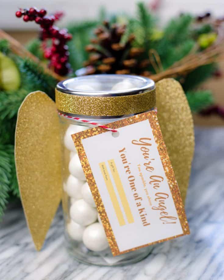 Easy DIY Angel Mason Jar Gift
