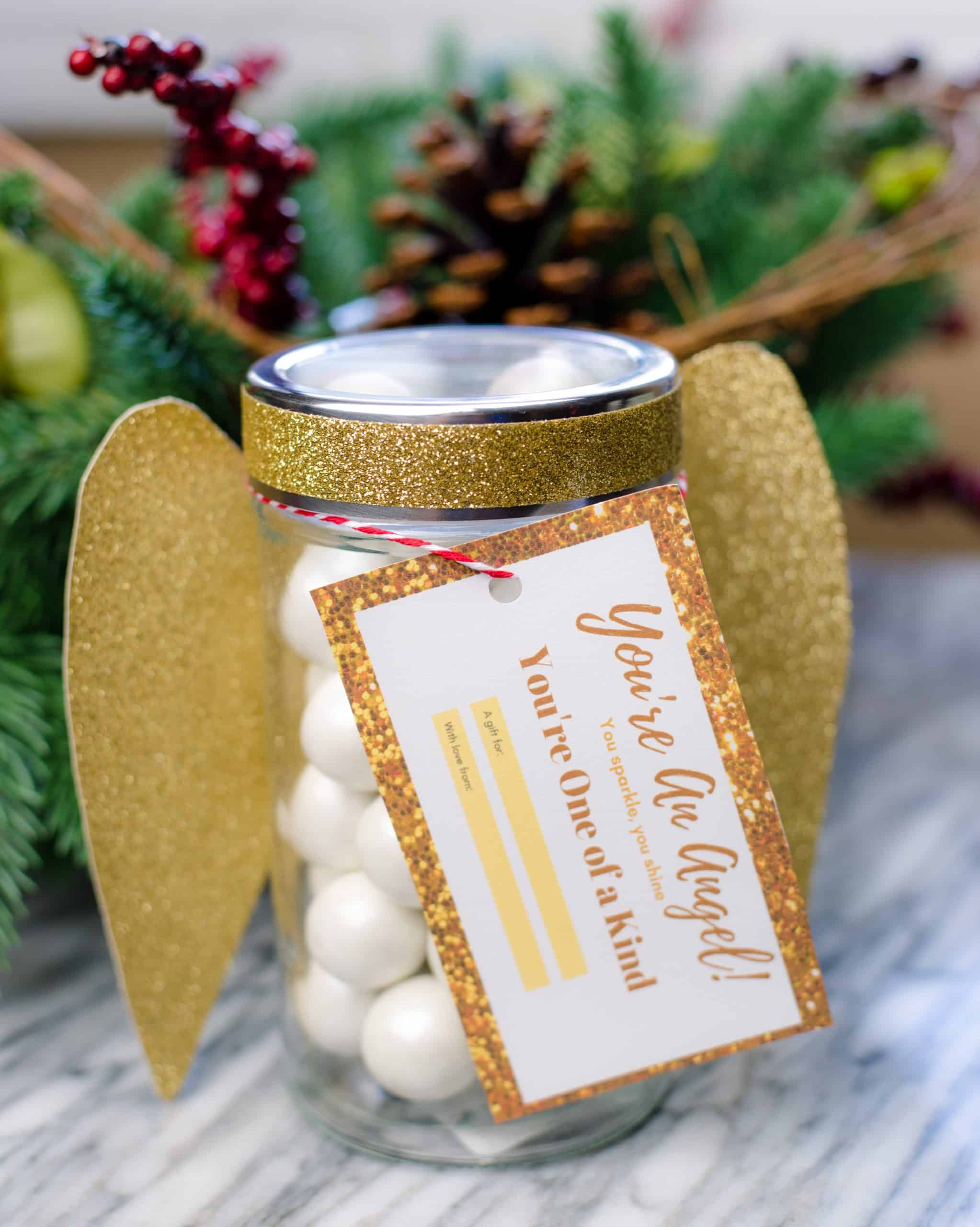Easy Diy Angel Mason Jar Gift An Alli Event