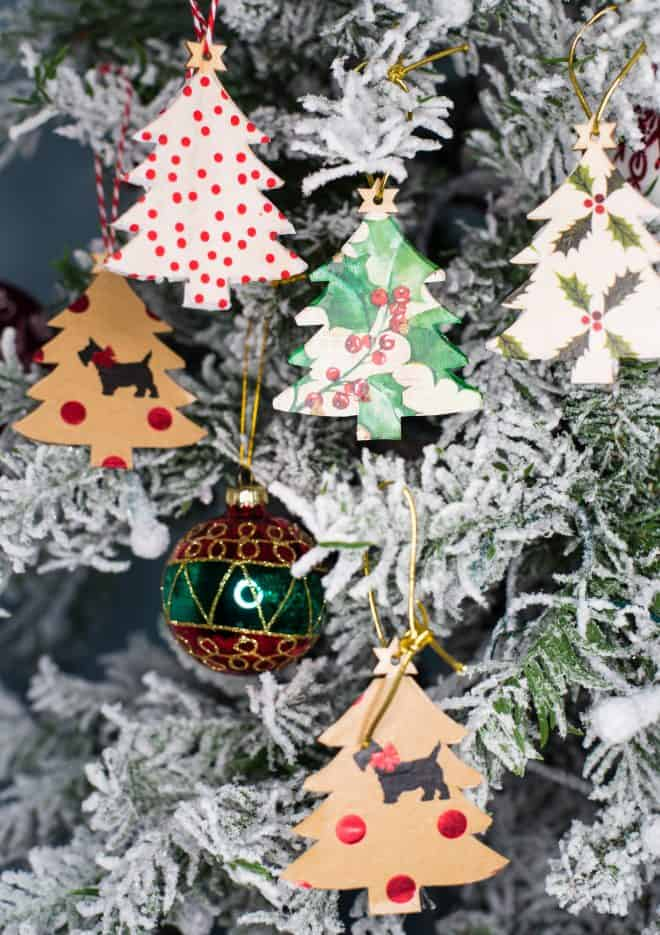DIY Christmas Tree Decoupage Craft - Easy and Simple