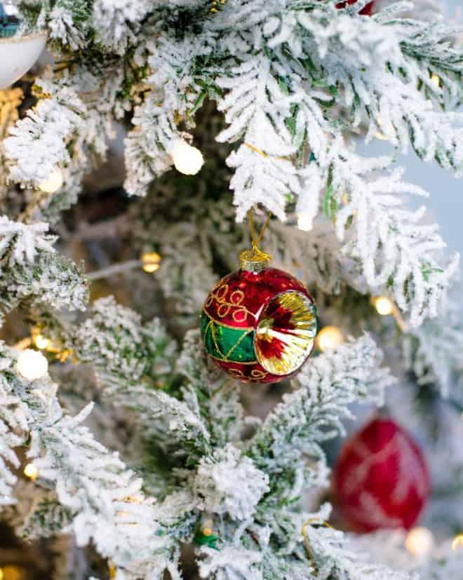 Christmas Ornament For Flocked Tree