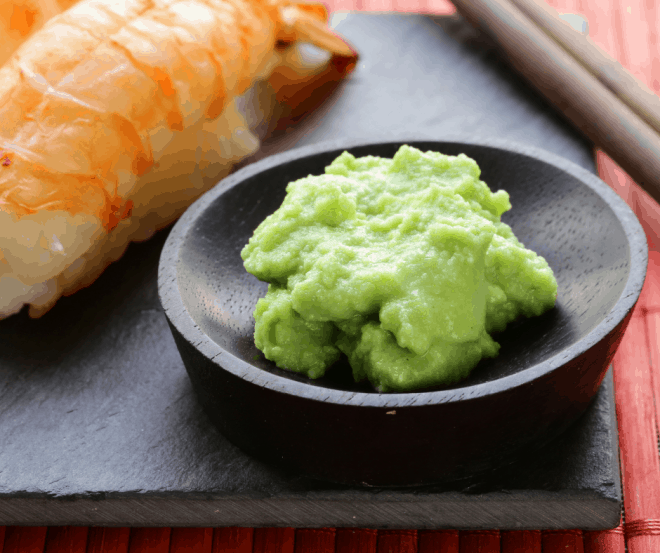 wasabi and lobster tail on black plate - Interesting Food Facts