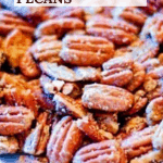 Spicy Southern Pecans on a white platter