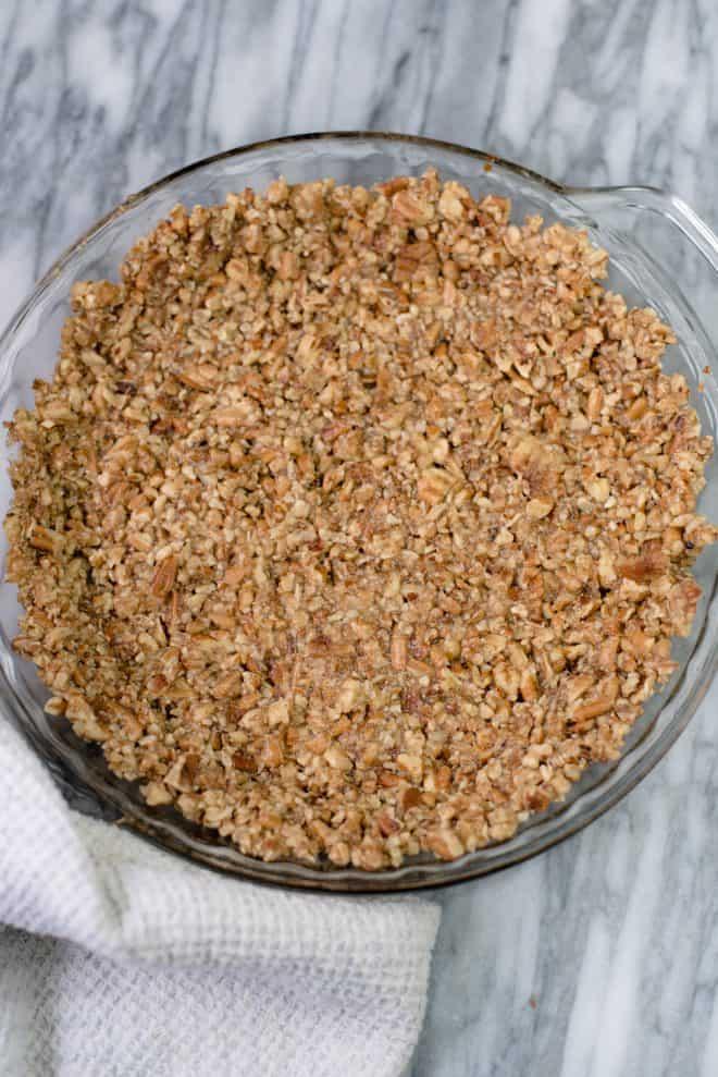 pecan crust in a 9-inch pie plate