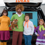 Family dressed as Scooby-Doo and friends for Trunk or Treat