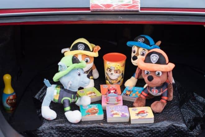 Paw Patrol Toys in trunk