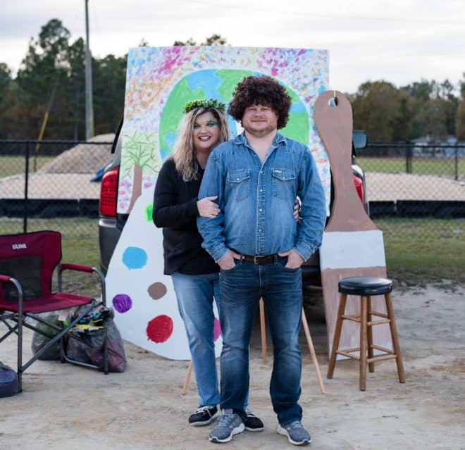 Bob Ross and Happy Little Tree - New Trunk or Treat Ideas