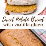 Sweet Potato Bread With Vanilla Glaze